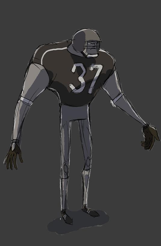 AFL player rendering