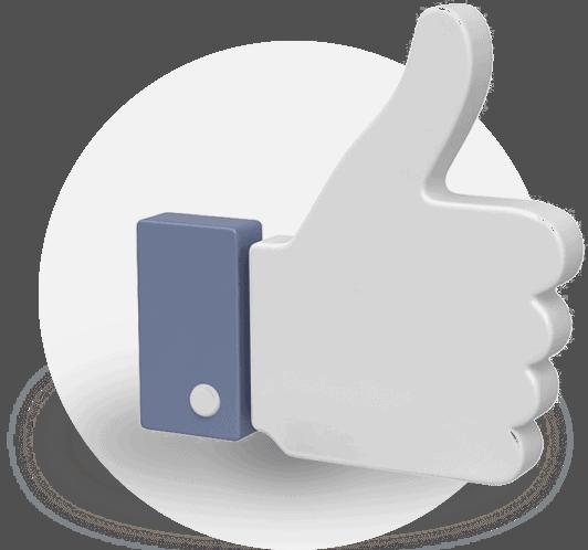 facebook like 3D image