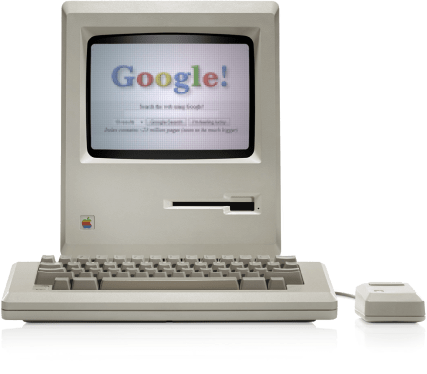 old school apple and google web page
